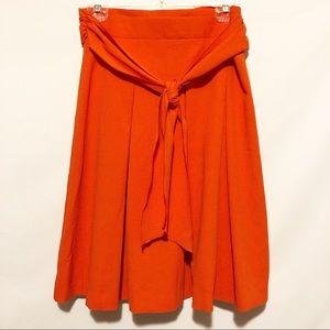 Loft orange swing skirt sz 10P NWT